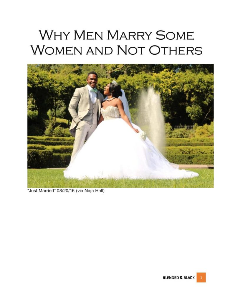 why men marry some women and not others free download